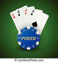娱乐场, 扑克牌, 背景