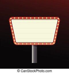 娱乐场, 旗帜, 背景, 签署