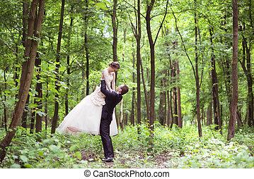 婚禮夫婦, 上, a, 步行