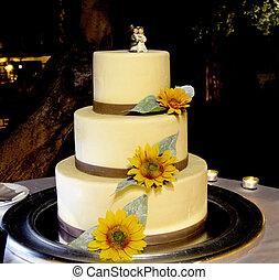 婚禮蛋糕, 由于, 新娘和新郎