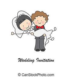 婚禮邀請, 卡片