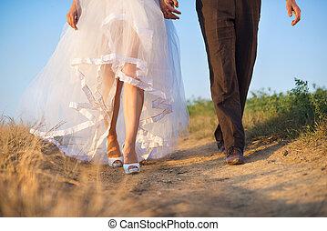 婚禮, 細節, 在, 自然