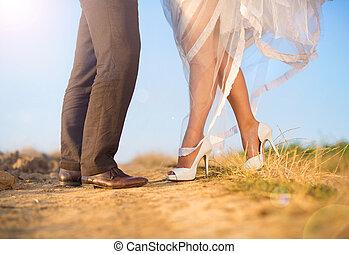 婚禮, 細節, 自然