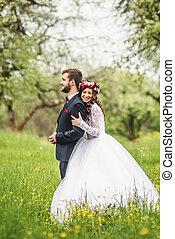 婚禮, 自然, 步行