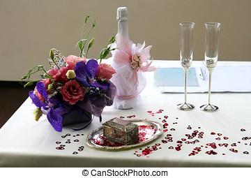 婚禮, 香檳酒眼鏡