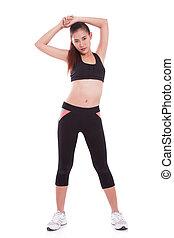 婦女伸展, exercise.