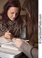 婦女祈禱, 年輕