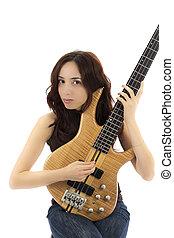婦女藏品, 她, 低音吉他