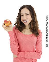 婦女藏品, 她, 咬住, 蘋果