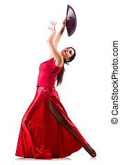 婦女跳舞, 傳統, 西班牙語, 跳舞, 被隔离, 在懷特上