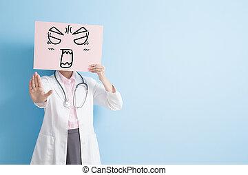 婦女醫生, 拿, 憤怒, 廣告欄