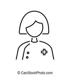 婦女醫生, avatar, 圖象, 線
