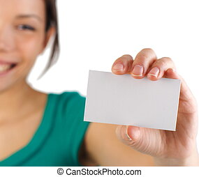 婦女 事務, 卡片