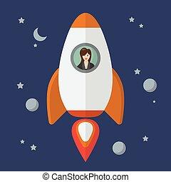 婦女 事務, 火箭