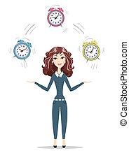 婦女 事務, 藏品, 時間