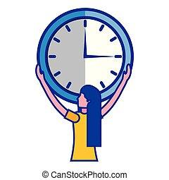婦女 事務, 鐘, 大, 藏品, 時間