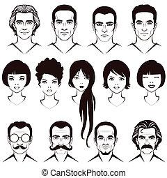婦女 和 人, 臉