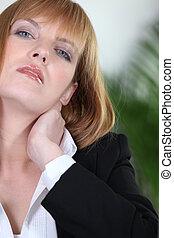 婦女, 由于, 子宮頸, 痛苦