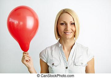 婦女, 由于, balloon