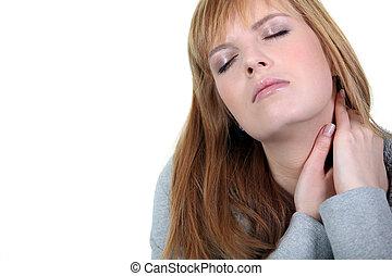 婦女, 由于, neckache