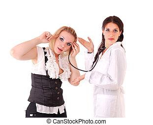 婦女, 病人, 醫生