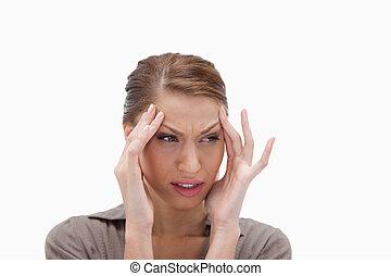 婦女, 經歷, a, 頭疼