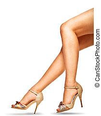 婦女, 腿