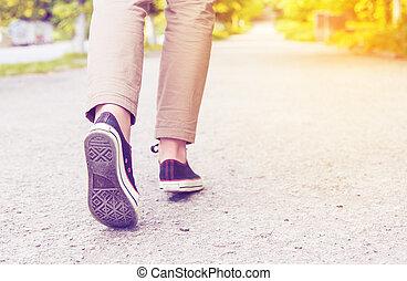 婦女, 腿, gumshoes