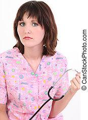 婦女, 護士, 健康