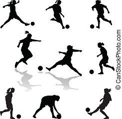婦女, 足球
