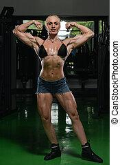 婦女, 車身制造者, 屈曲肌肉