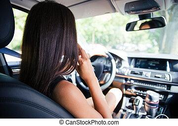婦女, 開車, 汽車