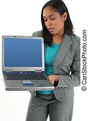 婦女, 電腦, 衣服