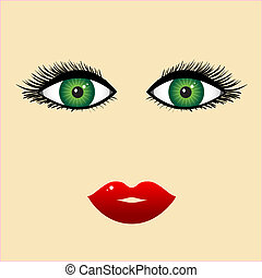 婦女 面孔, 特寫鏡頭