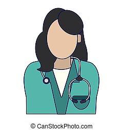 婦女, avatar, 醫生