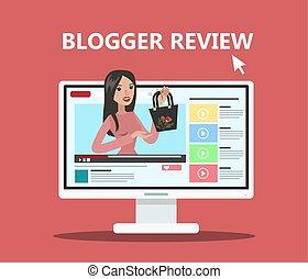 婦女, blogger, review.