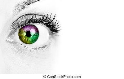 婦女, eye.