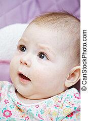 婴儿, 好奇, 表达, 面部
