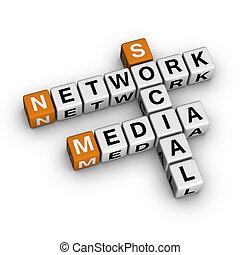媒介, 网络, 社会