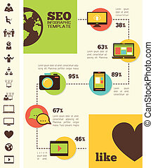 媒介, infographic, template., 社會