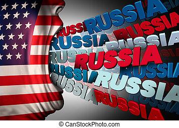 媒体, アメリカ人, 執心, ロシア