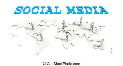 媒体, グローバルなビジネス, 社会