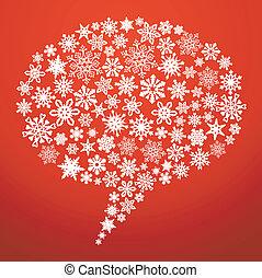 媒体, スピーチ泡, クリスマス, 社会