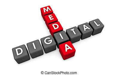 媒体, デジタル