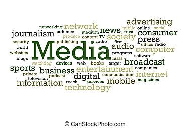 媒体, 単語, 雲