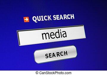 媒体, 捜索しなさい