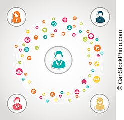 媒体, 概念, ネットワーク, 社会
