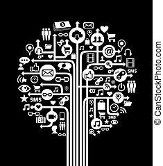 媒体, 概念, 木, 社会