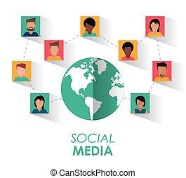 媒体, 社会, デザイン