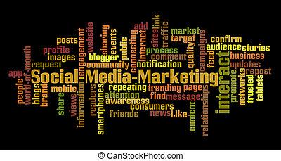 媒体, 社会, マーケティング